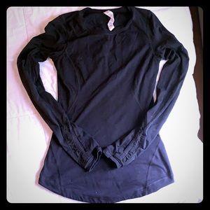 Lululemon black long sleeve with mesh detail